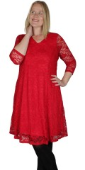 Zhenzi - Neola red lace dress