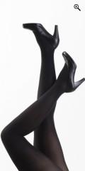 Festival - Lækre sorte strømpebukser i luxus 3-d lycra 40 den