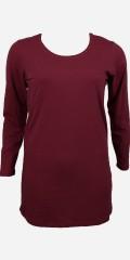 Zhenzi - T-shirt med lange ærmer og små sten i halsen