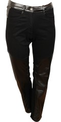 Zhenzi - Great salsa narrow twill jeans with leather-look-lobes and stretch