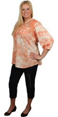 Zhenzi - Shirt blouse with 3/4 sleeves in batikfarve with