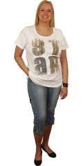Zhenzi - T-shirt med rund hals og tryk