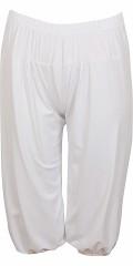 M fashionwear - Smarte baggy pants med for og elastik i hele taljen, samt super strech, knælængde