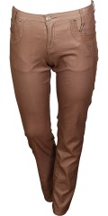 Cassiopeia - Power stretch metallic jeans med 5 lommer, beltestropper. Variabel strikk i taljen