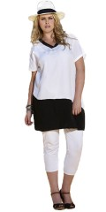 Zhenzi - Tunica with v cutting and short sleeves