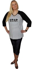 Zhenzi - Star t-shirt with 3/4 sleeves and round neck