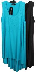M fashionwear - Tunika kjole uden ærmer med smarte sten foran