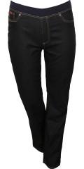 DNY (MARC LAUGE) - Dongeri (hiba) strekk jeans med riflete elastisk i taljen. Skrittlengde. Skrittlengde 80 og 86 cm.