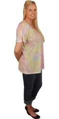 Zhenzi - Kurzärmelig durchsichtig T-Shirt in hübsche Farben