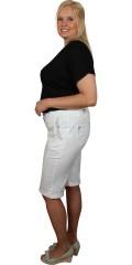 Zhenzi - Bermuda shorts, step pants med 4 lommer og op smøg i ben og nitter ved lommer og oplæg