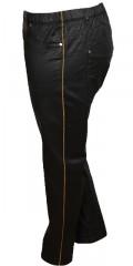 Zhenzi - Coatede twist buks slim legs bukser med strech og delvis elastik i taljen, samt bæltestropper