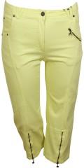 Zhenzi - Salsa Twill Jeans 7/8-Länge. Gefüllt mit Details. Regulierbar Elastik in die Taille und Stretch